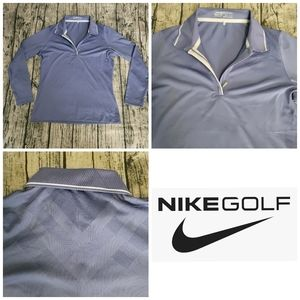 NikeFit Golf DRY Blue Breathable Athletic Shirt S